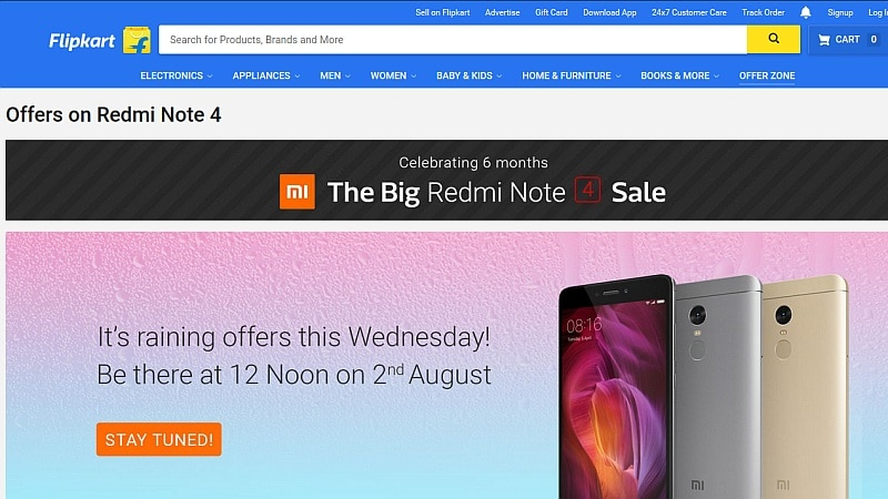b6f9d3b8b Xiaomi Redmi Note 4 to Be Available Today at Rs. 999 in Flipkart  Big  Sale   Check Out the Offer Details