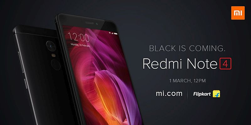 Xiaomi Redmi Note 4 Matte Black Colour Variant to Go on Sale in India Today
