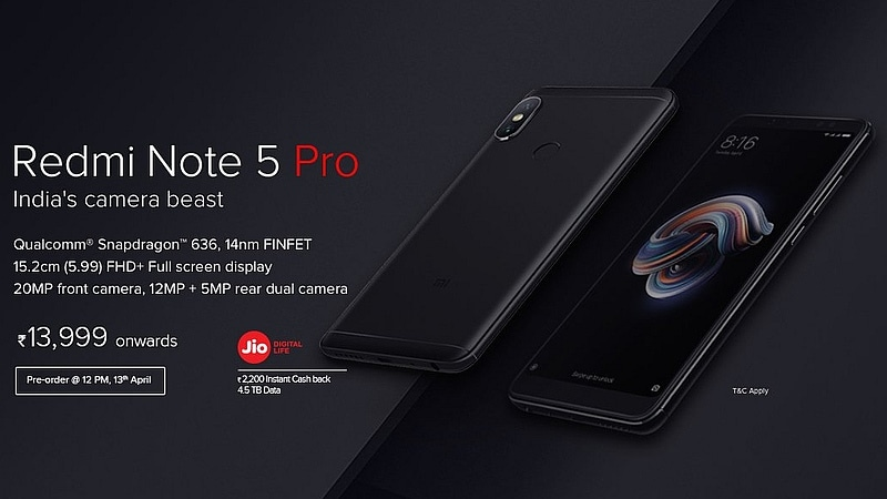 Redmi Note 5 Pro Will Be Up for Pre-Orders via Mi.com on Friday at 12pm: Xiaomi