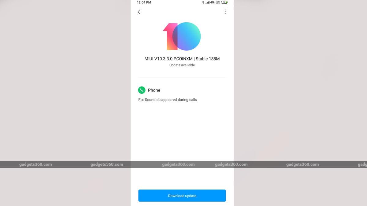 xiaomi redmi note 8 callingupdate gadgets360 Xiaomi Redmi Note 8 Bug Fix Update