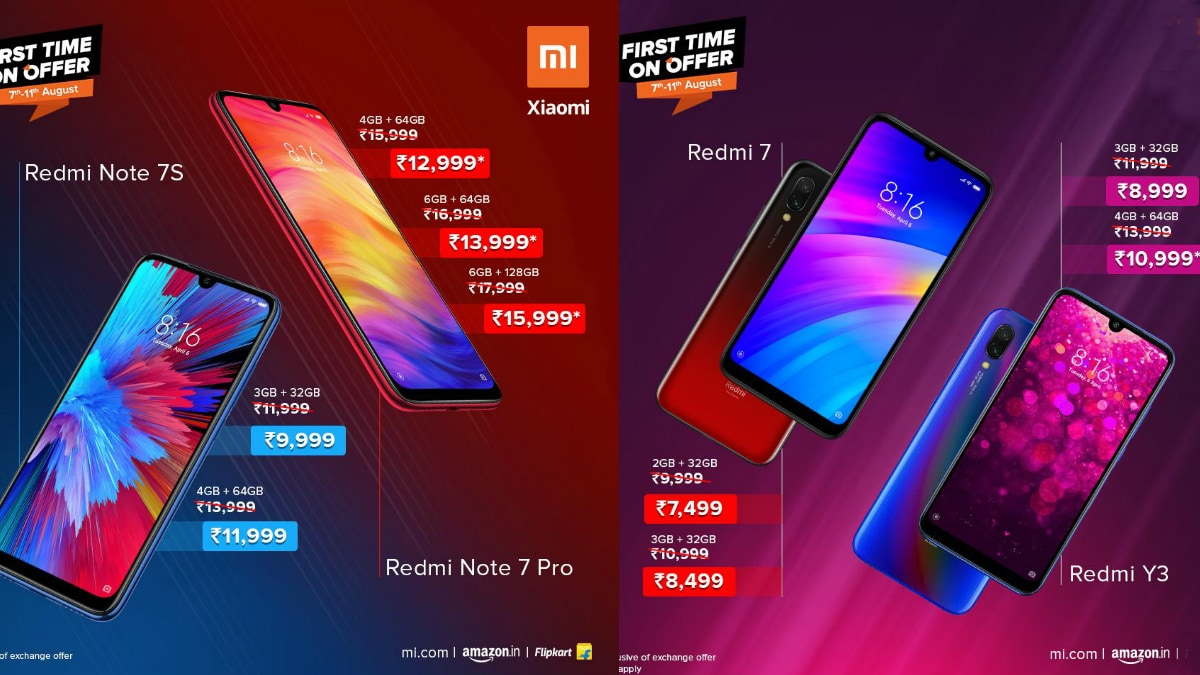 Xiaomi Independence Day Sale 2019: Offers on Redmi Note 7S, Redmi Note 7 Pro, Other Phones