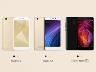 Xiaomi Redmi Note 4, Redmi 4, Redmi 4A Up for Grabs via Mi.com Today; Redmi Note 4 Sale on Flipkart