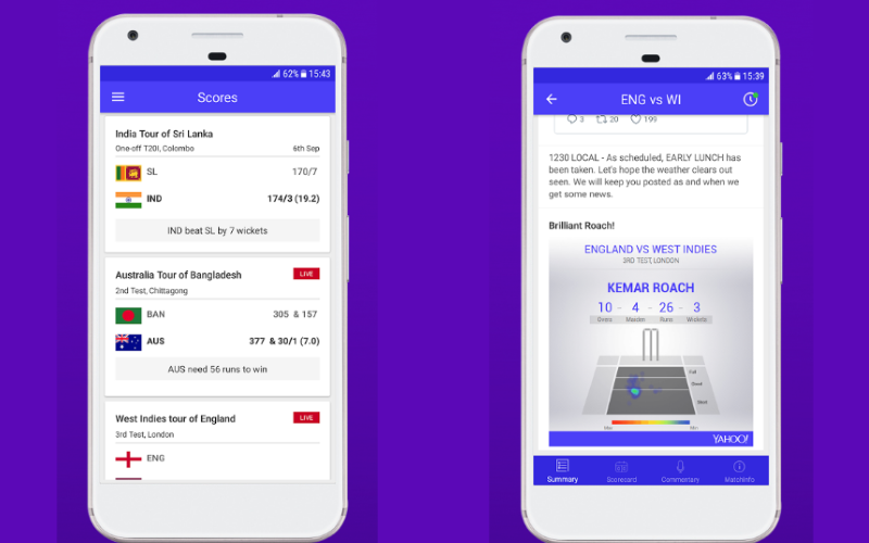 Yahoo Cricket App Revamped for Real-Time Updates, Rich Content