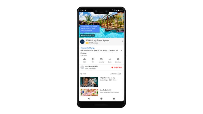 YouTube Starts Testing Ad Pods; Back-to-Back Skippable Ads to Replace Multiple Breaks in Videos