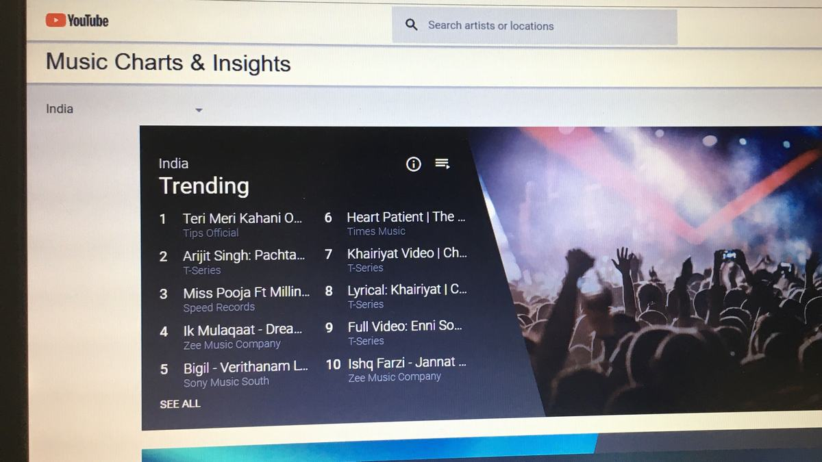YouTube Charts Launched in India, Aimed at Empowering Local Artists