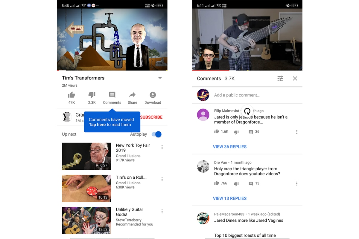 youtube comments button YouTube