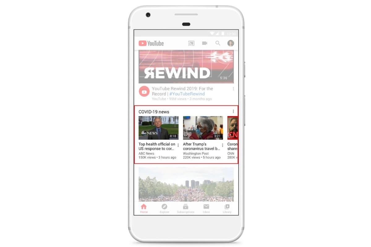 COVID-19: YouTube promoverá contenido autoritario de coronavirus en la página de inicio 1
