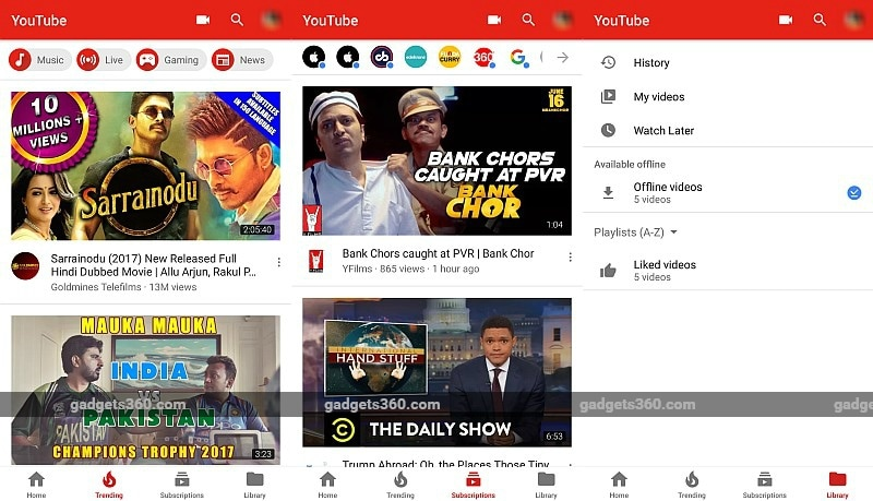 YouTube for Android Gets Redesigned Layout With Navigation Bar at Bottom