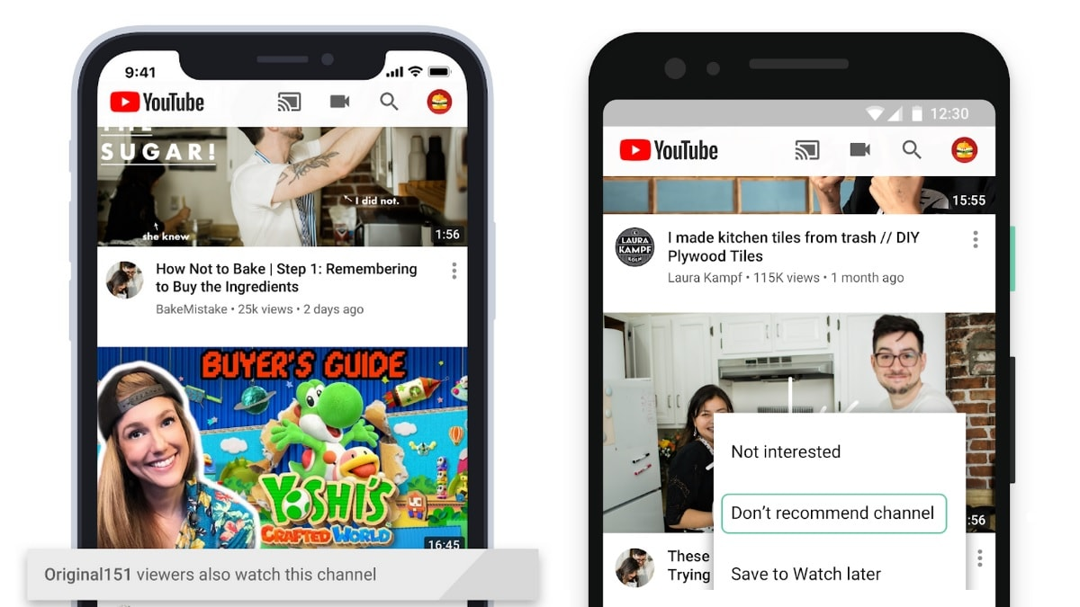 YouTube Homepage Update Gives Users More Control Over Recommendations, Eases Content Discovery