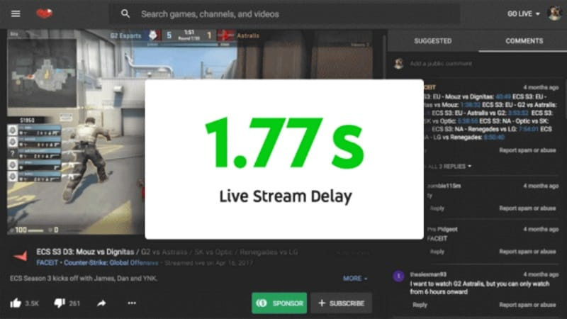 YouTube makes live streaming faster than ever