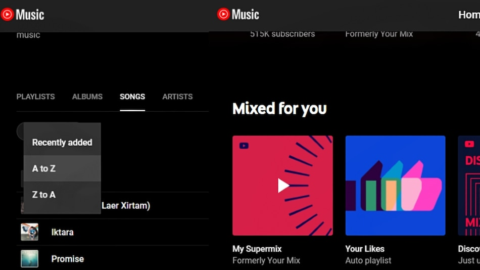 YouTube Music Adds New Library Sorting Options, Changes Flagship Playlist Name to 'My Supermix'