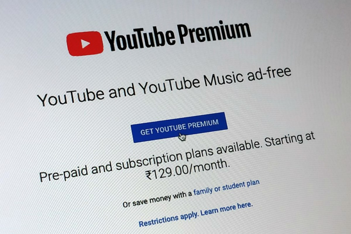 YouTube Premium, YouTube Music Premium Prepaid Plans Launched in India With Non-Recurring Charges Starting at Rs. 109