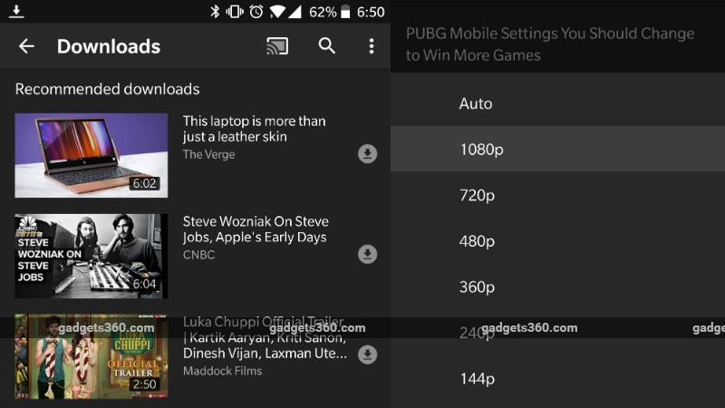 YouTube Officially Details Video Download Recommendations; Android, iOS Users Get Reordered Video Resolution Options