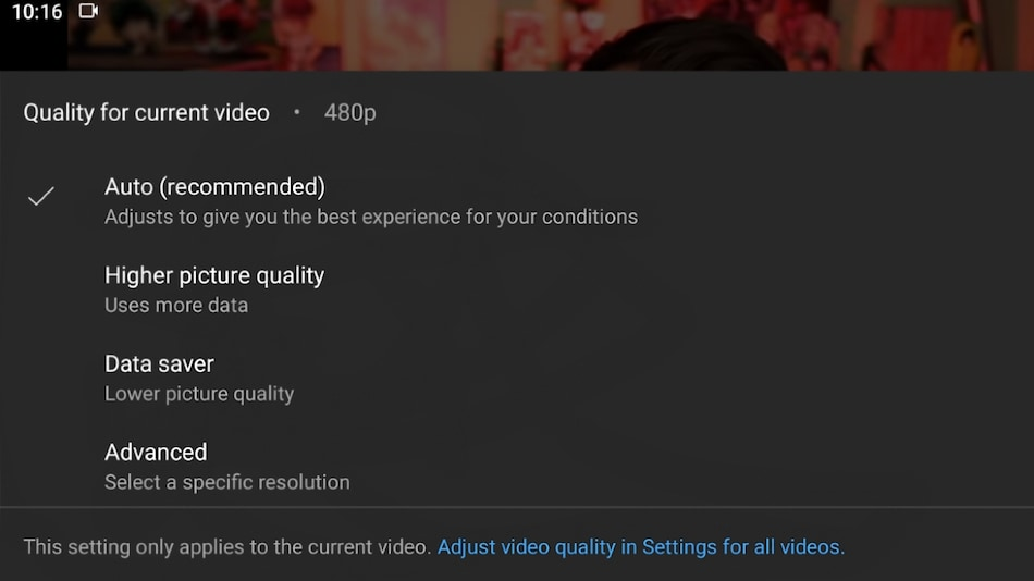 YouTube Is Testing Simplified Video Quality Controls, Including Settings for Wi-Fi and Mobile Data Streaming: Report