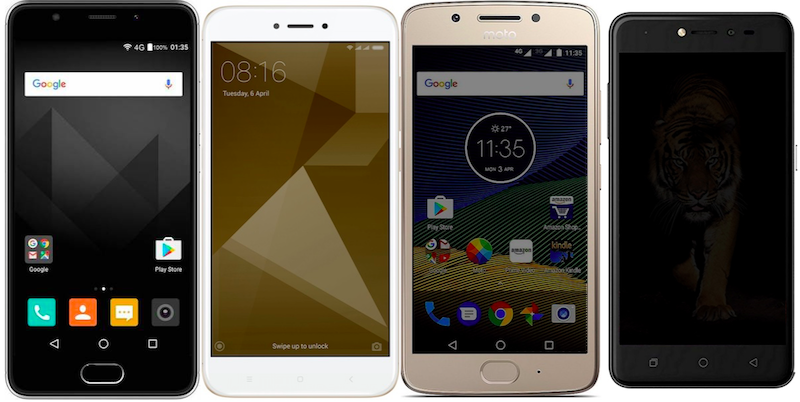 Yu Yureka Black vs Xiaomi Redmi 4 vs Moto G5 vs Coolpad Note 5 Lite: Price and Specifications Compared