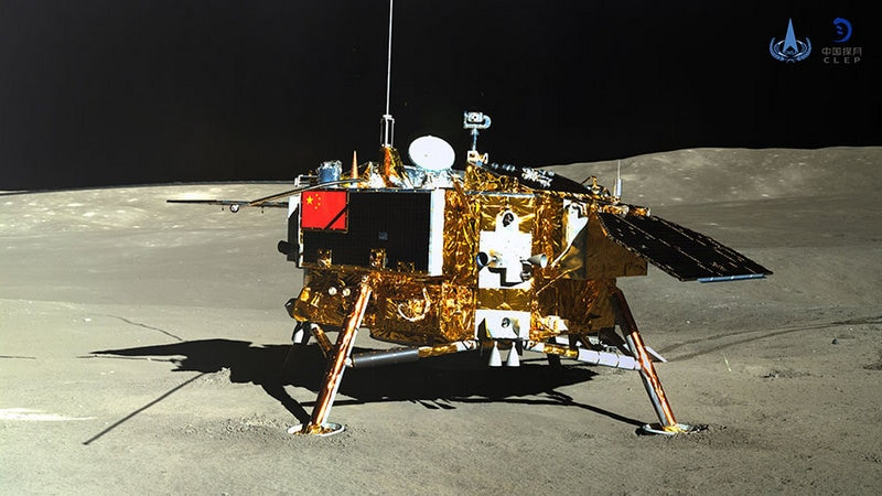 China's Chang'e-4 Lunar Probe Sends Panoramic Image of Moon's Far Side