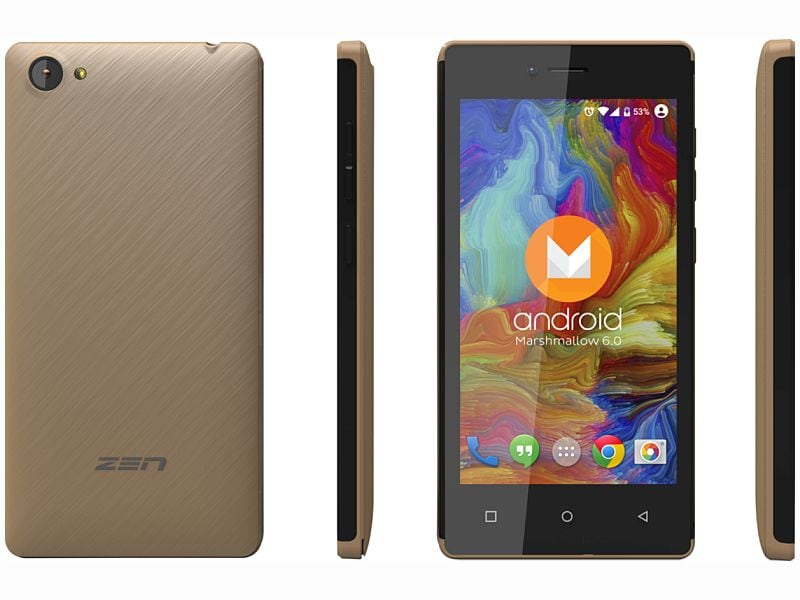 Zen Admire Star With Android 6.0 Launched at Rs. 3,290
