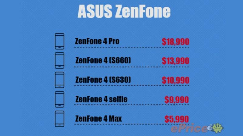 असूस ज़ेनफोन 4 वेरिएंट की कीमतें लीक, ज़ेनफोन 4 प्रो होगा सबसे महंगा