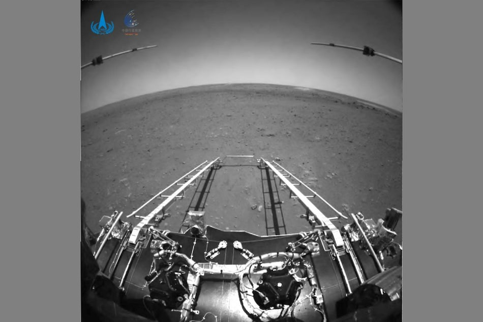 China Mars Rover Zhurong Beams Back First Photos From the Red Planet