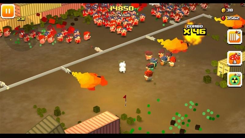 zombie bloxx flame kill Zombie Bloxx