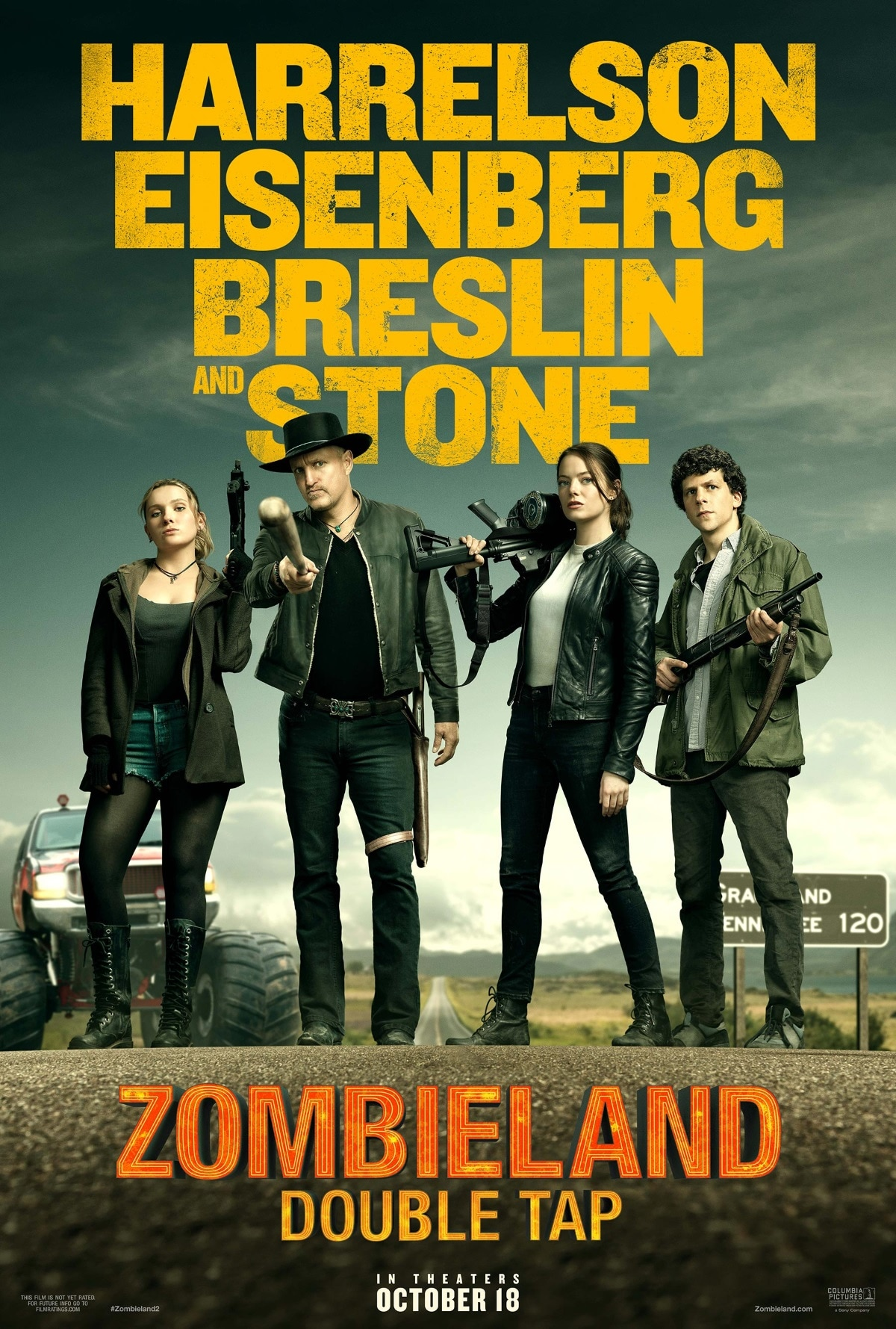 zombieland double tap poster Zombieland 2 poster