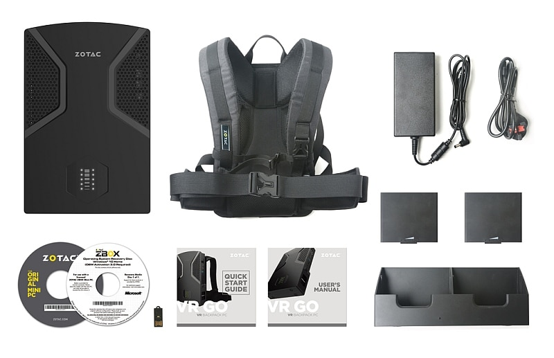 zotac vr go box contents