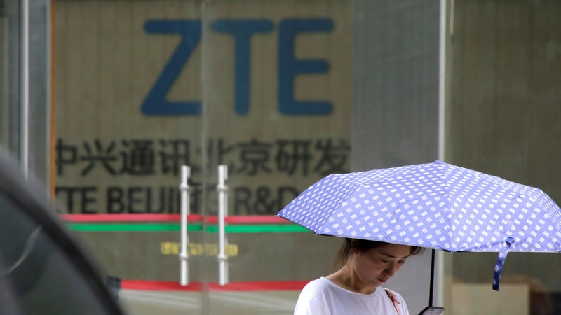 China's ZTE sees heavy losses in H1 due to U.S. penalty
