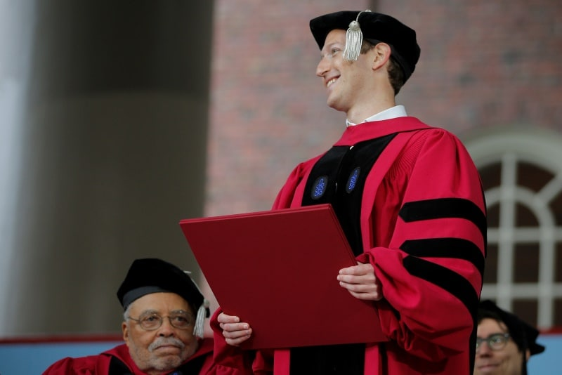 Facebook CEO Mark Zuckerberg Gets Honorary Harvard Degree 13 Years After Dropping Out
