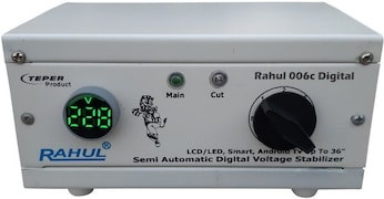 Rahul 006 C Digital 300 Autocut Voltage Stabilizer (White)