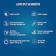 Lloyd 1.5 Ton 3 Star Inverter Split AC (LS18I35WSHD)