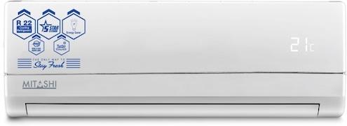 Mitashi 1.5 Ton 5 Star Split AC (Aluminium Condensor, MISAC155V05, White)