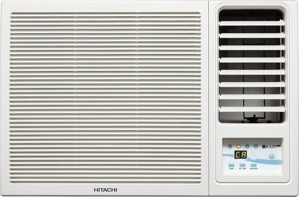 Hitachi 1.5 Ton 3 Star Window AC (Copper Condensor, KAZE PLUS RAW318KUD, White)