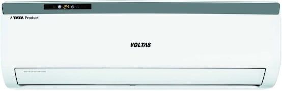 Voltas 1 Ton 3 Star Split AC (Copper Condensor, 123 CZA, White)