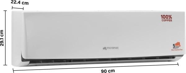 Micromax 1 Ton 3 Star Split AC (Copper Condensor, ACS12C3C4QS3WH, White)