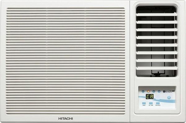 Hitachi 1 Ton 3 Star Window AC (Copper Condensor, KAZE PLUS RAW312KWD, White)