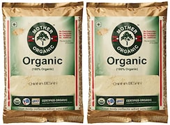 Mother Organic 100% Organic Chana Besan (500GM, Pack of 2)