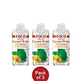 Foco 100% Pure Coconut Water (Mango, 330ML, Pack of 3)