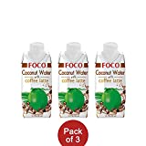 Foco 100% Pure Coconut Water (Coffee Latte, 330ML, Pack of 3)