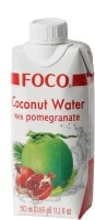 Foco 100% Pure Coconut Water (Pomegranate, 110ML, Pack of 3)