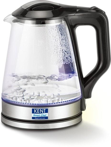 Kent 16023 1.7 L Electric Kettle (Black & Silver)