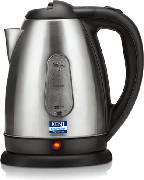 Kent 16026 1.8 L Electric Kettle (Black & Silver)