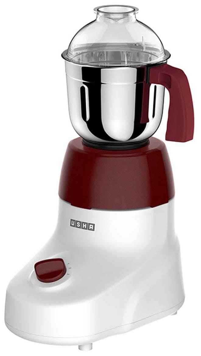 Usha 3475 600W Mixer Grinder (Maroon & White, 1 Jar)