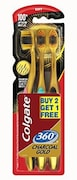 Colgate 360 Charcoal Gold Tooth Brush (Pack of 3)