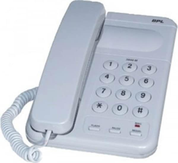 BPL 3600M Corded Landline Phone (White)