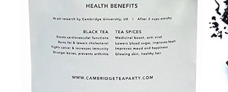 Cambridge Tea Party 8 Exotic Spices Masala Chai (250GM)