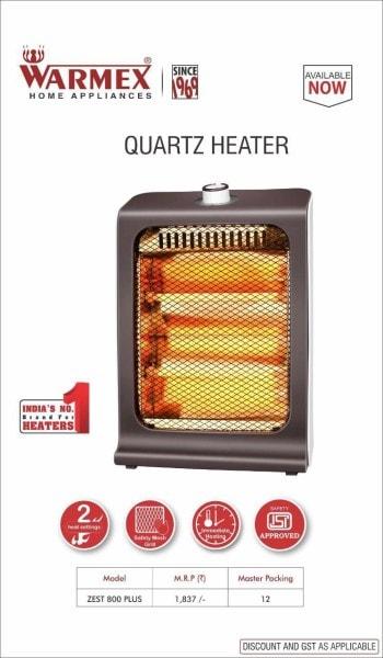 Warmex 800 Plus Quartz Room Heater (Grey)