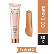 Lakme 9 To 5 CC Complexion Care Face Cream (30GM, Pack of 2)