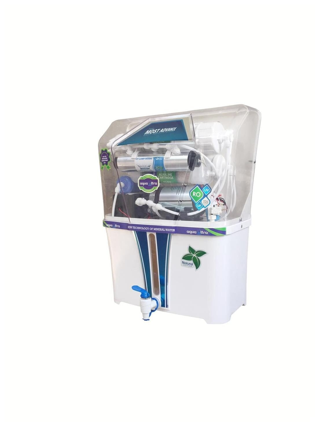 Aqua Ultra A100 15L RO+UV+UF Water Purifier (White)