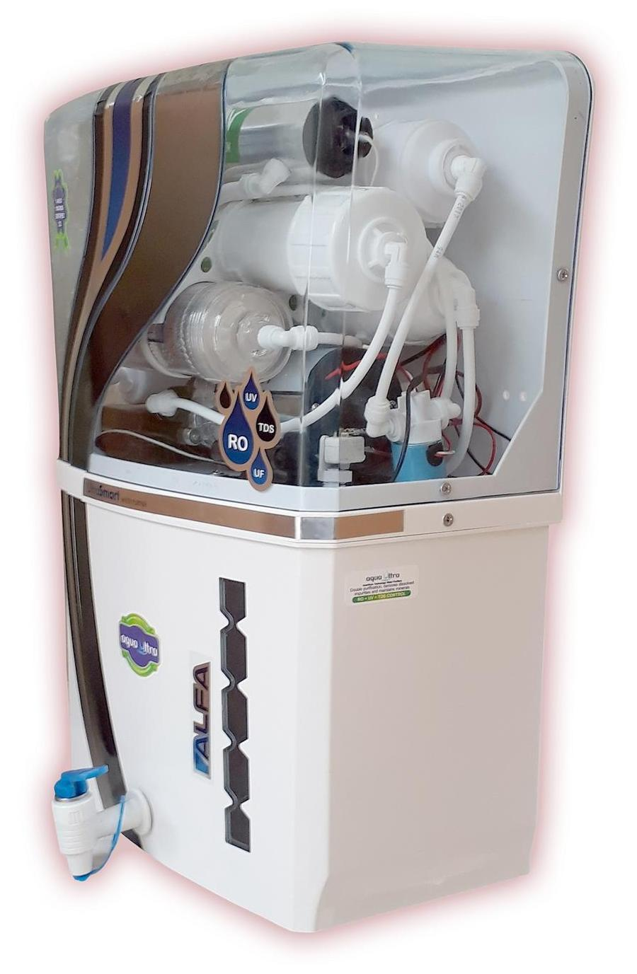 Aqua Ultra A1010 12L RO+UV+UF Water Purifier (White)
