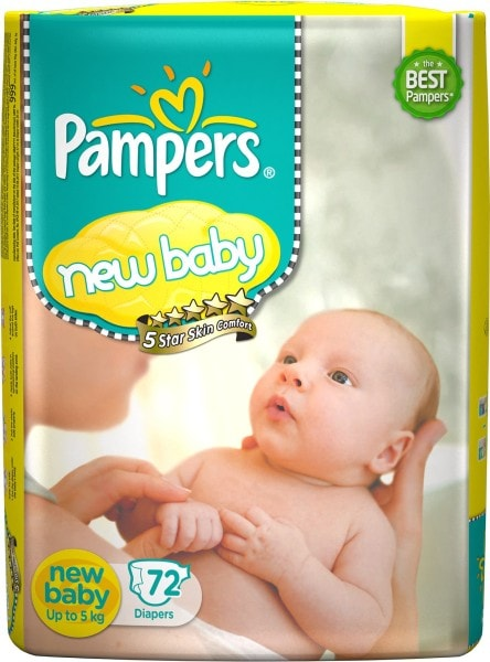Pampers Active Baby Diapers (72 PCS, NB)
